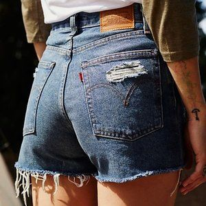[Levi's] Wedgie High Waisted Cutoff Denim Shorts